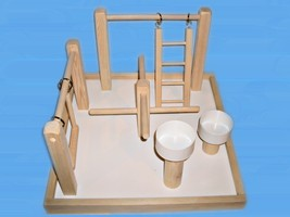 Bird Play Gym With Treat Cups For Small & Medium Birds - £30.88 GBP