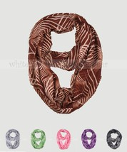 Water Ripple Print Stripe Block Circle Loop Wrap Infinity Scarf Multi Co... - $6.45