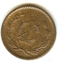 Mexico 1942 1 Centavo Bronze Coin great shape - $1.99
