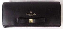 NEW KATE SPADE KEIRA HANCOCK PARK BLACK COWHIDE LEATHER CLUTCH - ₨6,763.18 INR