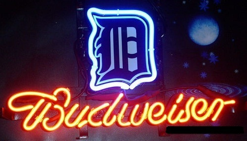MLB Detroit Tigers Budweiser Neon Light Sign 13