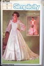 Uncut 80s Size 18 Michelle Piccione Wedding Gown Train Simplicity 6764 P... - $12.99