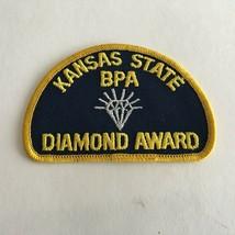 "Vintage Kansas State BPA DIAMOND AWARD Patch 4"" X 3""  - $7.87"