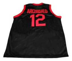 Nate Archibald #12 Clinton High School Basketball Jersey New Sewn Black Any Size image 2