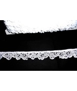 "Delicate  Polyester blend eyelet ruffled lace  2"" White (5 yards @ .60) - $3.00"