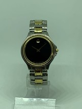 Movado Museum Classic 81 E4 9880 Watch Two Tone Stainless Steel Quartz - $199.00