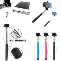 Wired Selfie Stick Phone Holder Built-in Shutter For iPhone 4 4s 5 5s 6 ... - €6,88 EUR