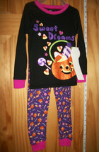 Fashion Holiday Baby Clothes 3T Halloween Pajama Pant Set PJs Pumpkin Sl... - $12.34