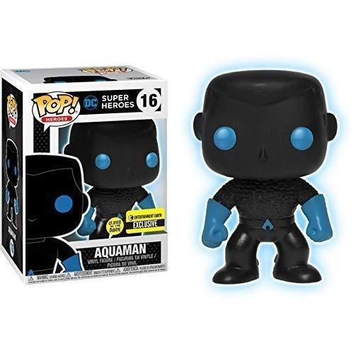 Funko Pop! Vinyl Justice League Aquaman Silhouette Glow in The Dark DC Comics