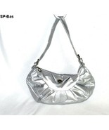 Silver Leatherette Dressy Purse  - $12.99