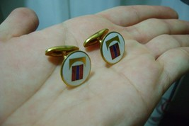 vintage enamel cufflinks by sporrong  ((consult stock)) - $47.00