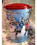 Tim Hortons Coffee Tin Canister Hockey Collector # 3 Skating Limited Edi... - $9.95