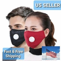 Reusable PM 2.5 Cotton Face Cover Activated Carbon With Filter-Washable US - $5.99
