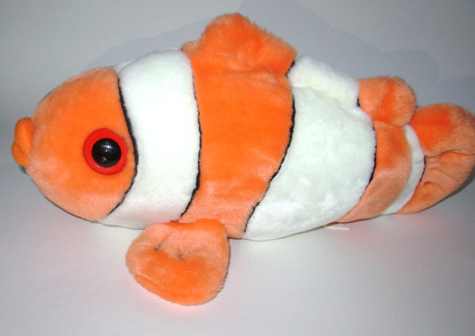 Wild republic clown fish orange white stripes plush for Fish stuffed animal