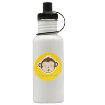 Mod Monkey Boy Personalized Custom Water Bottle,  Add Childs Name - $19.99
