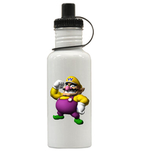 Super Mario Wario Personalized Custom Water Bottle,  Add Childs Name - $19.99