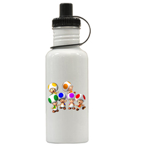 Super Mario Toads Personalized Custom Water Bottle,  Add Childs Name - $19.99
