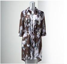 SIMPLY VERA WANG Womens Smocked Shirt DRESS Wat... - $18.49