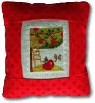 September 9 cent Special Delivery Postage Stamp pillow cross stitch kit Pine Mtn - $16.20