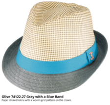 Who Ced Olive Soft Paper Braid Straw Fedora Sweatband Fully Lined Brown ... - $46.00