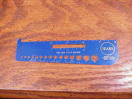 Sears Standard Knitting Needle Gauge Ruler, siz... - $4.95