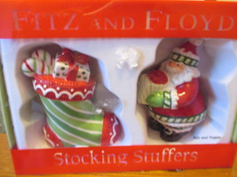 Fitz and Floyd Stocking Stuffers salt and pepper shakers - $19.99