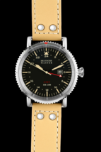 HOT Editions Military Automatic Watch DM1936 AIR FORCE 47mm Genuine Leat... - $430.00
