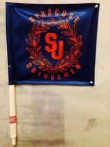 2 Syracuse Orange Retro Premium Car  FlagS Window BannerS + PoleS (PAIR) - $11.26