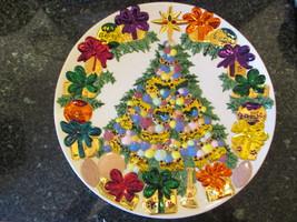 Ceramic Christmas Tree decorative serving plate - $12.95