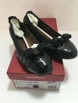 Salvatore Ferragamo Womens Round Toe Ballet Flat Shoes Size 7 M Black My... - $94.05