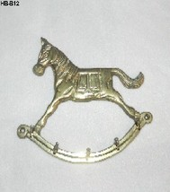 Brass Rocking Horse Key, Dog Leash or Necktie Holder - $10.99