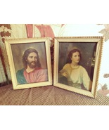 Jesus and Jesus as a Child Framed Pictures in matching frames Vintage - $25.00
