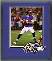 Joe Flacco 2014 Baltimore Ravens -11 x14 Team Logo Matted/Framed Photo - $43.55