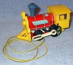 1964 Fisher Price Toot Toot Train Engine Locomotive Toy #643 - $8.00