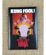 "Vintage ""Beverly Hills Ninja"" Chris Farley ""Kung Fool!"" promo button pin... - $11.83"