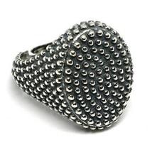 Men's Ring Silver 925, Burnished and Speckled, Oval, Size Adjustable image 1
