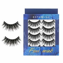 BEPHOLAN 5 Pairs False Eyelashes Synthetic Fiber Material | Dramatic Rou... - $10.99