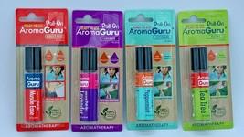 Lot Of 4 Aroma Guru Roll On Aromatherapy Lavender/Tea Tree/Peppermint/Mu... - $19.79