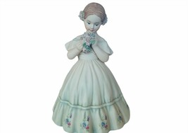 Daisa Spain Figurine Porcelain Flower Dress Girl bouquet Ida decor gift ... - $72.57