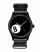 Cheapo CHPO cheapo 8 Ball Pool Black Leather Strap 14227SS Analog Wrist Watch image 1