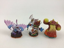 Skylanders Figure Lot Magic Double Trouble Fire Eruptor Earth Flashwing Figures - $12.82