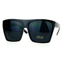 Unisex Sunglasses Super Dark Black Lens Super Oversized Square Black Frame - $9.95