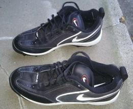 Nike Land Shark Football Cleats Size 9 Black Used - $12.01