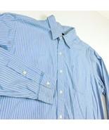 Rugby Ralph Lauren Blue White Black Striped Dress Shirt Sz S Long Sleeve... - $24.99