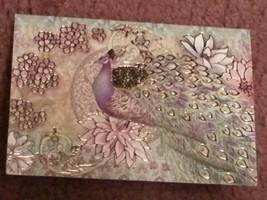 Punch Studio gold embossed PURPLE PEACOCK CARD-MATCHING ENVELOPE - $3.60
