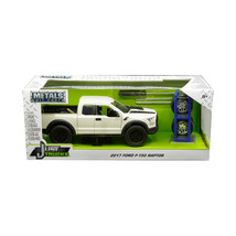 2017 Ford F-150 Raptor Pickup Truck Off White with Black Stripes and Ext... - $39.48