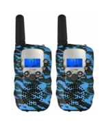 New JOYFUN 2-Piece WALKIE TALKIE SET Multi Channel w/ Flashlight BLUE CA... - $14.01