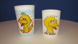 cup Lot 2 vintage sesame street Big Bird melamine plastic Peter Pan + - $4.99