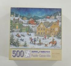 "Bits and Pieces 500 Piece Puzzle Let It Snow 16"" x 20"" SEALED - $15.42"