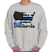Blue Lives Matter Support Thin Blue Line American Police Sweatshirt - $18.99+